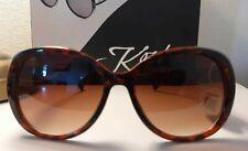 Sonnenbrille AD Sol 19122 schwarz blau PAILLETE mit Bügel breit für PL