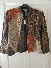 Indigo Moon Check Print Sequined Jacket. Size Large. BNWT
