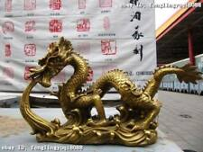 Chinese Folk fable classic refined Brass Copper Fly Dragon Play disgorge water