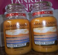 Yankee Candle  Sunset Breeze  22 oz Lot of 2 NEW. Candles  Free Ship Housewarmer