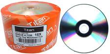 1200 Titan Brand Duplication Grade 16X Shiny Silver Top Blank DVD-R Disc 4.7GB