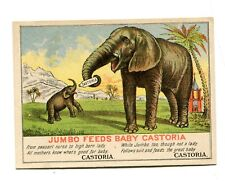Victorian Trade Card CASTORIA Centaur Liniment JUMBO FEEDS BABY PT Barnum