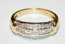 Very Impressive 18ct Yellow Gold Diamond Pave Set Ring 0.33cts Size N