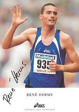 Autogramm Rene Herms Leichtathletik 2009 mit 27 Jahren verstorben Handsigniert B