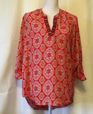 Society Girl Ladies V-neck Blouse/Top Size XL EUC