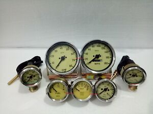 Smiths Gauge Kit Temp+ Oil+ Fuel+ Amp +Oil Temp+Speedometer+TachReplica Cream ME