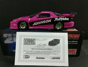 Jimmie Johnson #7 True Value AUTOGRAPHED 2003 IROC Brickyard Win 1:24 Action