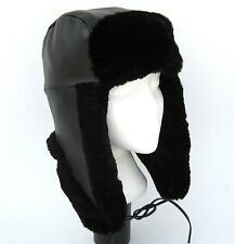 new Beaver fur -Genuine Napa leather trapper hat aviator XL (all real fur inner)