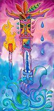 SIGNED by Jason Becker and Gary Becker Art Print GUITAR KACHINA (24x18 Inches)