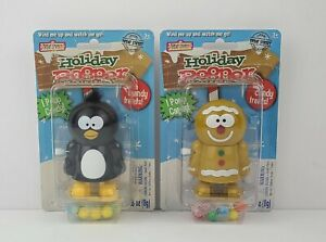 2 NEW Candy Dispenser Christmas Holiday Pooper Treat Street Collectible Wind up