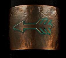 Blazin Roxx Womens Jewelry Bracelet Cuff Arrow Hammered Copper Turq 29959