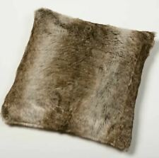 LUXURY Brown Bear Faux Fur Cushion Cover Gozze 50x50 cm BNWT RRP £36 EACH