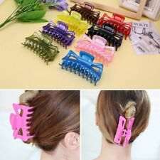 2 Pcs Simple Large Hair Clamps Women Hair Claw Clips Big Barrette Crab Hair Claw