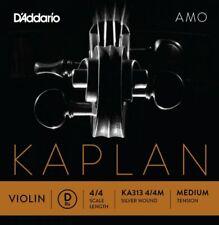 More details for d'addario kaplan amo violin d string, 4/4 scale, medium tension ka313 4/4m