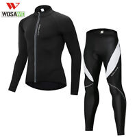 Mens Long sleeve Cycling jersey pants set Spring Winter Bike jacket Trousers