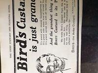 b1f  ephemera 1913 advert bird's custard is just grand