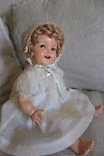 """18"""" Ideal Doll flirty eyed Shirley Temple Baby Doll Composition doll"""