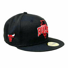 New Era Men's NBA Chicago Bulls Local 59Fifty Fitted Hat Black Basketball Cap...
