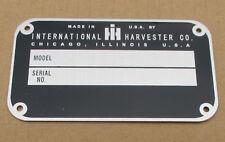 Id Serial Number Plate For Ih International Farmall 330 340 350 400 404 450 460