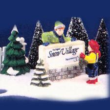 Department 56 Snow Village Accessories - Kids Decorating Village Sign