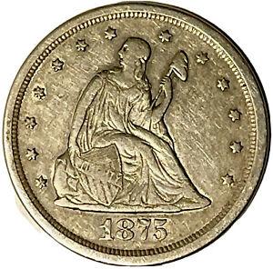 1875-s Seated Liberty Twenty Cent Piece  Uncertified