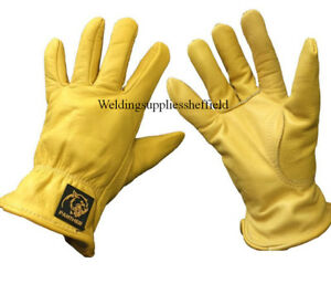 Parweld Panther Leather Premium Drivers Gloves Fully Lined Tough Welding Gloves