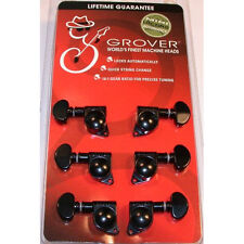 Grover 406BC 3 X 3 Black Mini Self Lock Tuning Machine Heads Locking Tuners