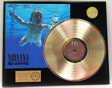 NIRVANA NEVERMIND GOLD LP RECORD LIMITED EDITION DISPLAY