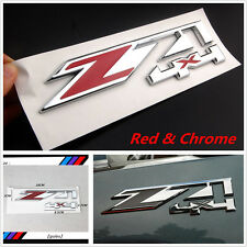 1x New Red&Chrome Z71 4x4 Emblem Decal Sticker Badge for Chevrolet Silverado GMC