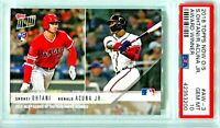 2018 Topps Now Ronald Acuna Rookie Shohei Ohtani RC #AW-3 RC New Label PSA 10!