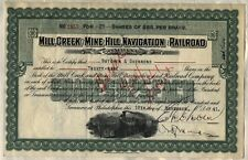 Mill Creek & Mine Hill Navigation Railroad Stock Certificate Pennsylvania