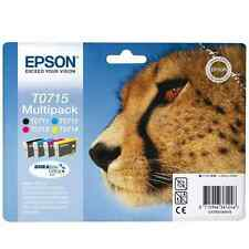 EPSON T0715 Set di 4 CARTUCCE INKJET T0711 T0712 T0713 T0714 originale