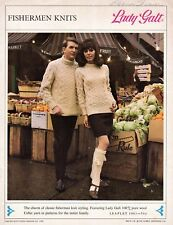 Vintage 1968 Lady Galt Fishermen Knits Patterns