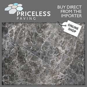 Polished Porcelain Tile Dark Emprador Marble Style Floor and Walls 395x790x11mm