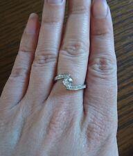 Tamaño del anillo de plata esterlina giro o