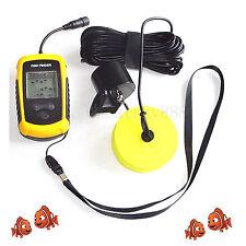 100M Depth Fishing Bait Tool Portable Sonar Sensor LCD Alarm Ideal Fish Finder