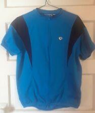 Pearl Izumi Men's Size Large Cycle Jersey Blue & Black 3/4 Zip EUC