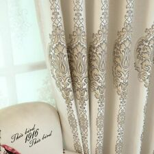 Curtains Jacquard Blackout Window Treatments High Shading Woven Home Decorations