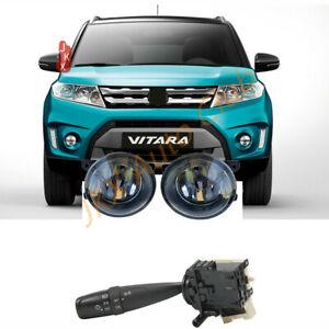 LED Fog Light+ Headlight Turn Signal Switch k For Suzuki S-Cross / Vitara Bumper