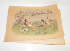 Fritz Baumgarten Heft Kinderbuch Kinderfreuden um 1945 !