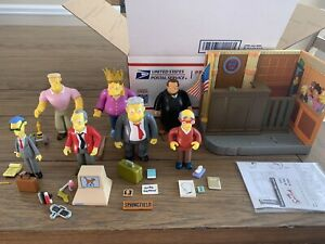 The Simpsons WOS Playmates Series 11 Set Compete With Playset