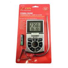 CDN Combo Sonda Termómetro/temporizador/Reloj DTTC-S-Carne Asada// Caramelo/freír