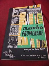 Partition Mambo Promenade Paul Piot Caucasian Mambo Bennet Castell Stako