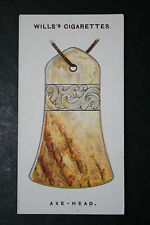 Chinese Jade Axe-head  Talismanic Charm    1920's Vintage Card  VGC