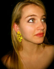 KATE SPADE NEW YORK RIDICULOUSLY GORGEOUS FLO YELLOW CHANDELIER DROP EARRINGS