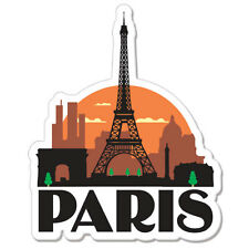 "Paris  France Travel car bumper sticker decal 5"" x 4"""