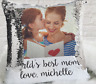 Personalize Your Own Sequin Pillow | Upload a Photo + Text