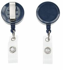 Navy Blue Ski Retractable YoYo Badge Reel Lanyard - 1 2 5 or 10