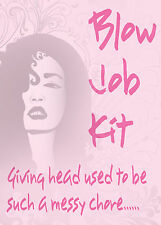 Blow Job Kit ~ Adult Novelty Gift ~ Secret Santa / Hen Night / Rude Joke Gift
