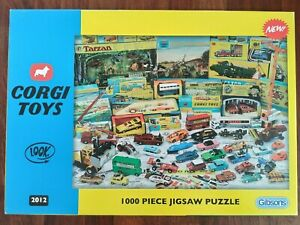 Gibson Corgi Toys Cars COMPLETE 1000 Pieces Jigsaw Puzzle